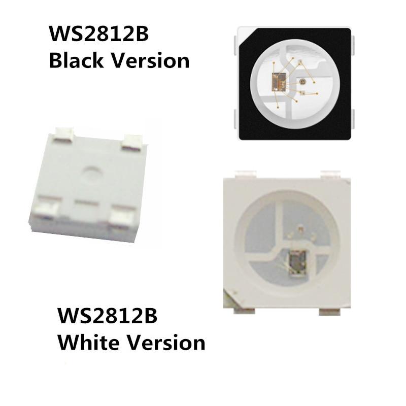 10~1000pcs WS2812B Lamp Beads 5050 RGB SMD Black/White Version WS2812 Individually Addressable Digital LED Chip DC5V