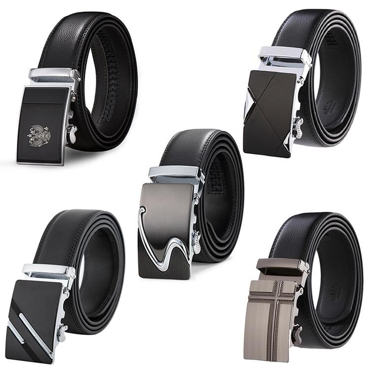 Genuine Leather Belts For Men Automatic Male Belts Cummerbunds Leather Belt Men Dropshipping Black Belts Cinturon Hombre