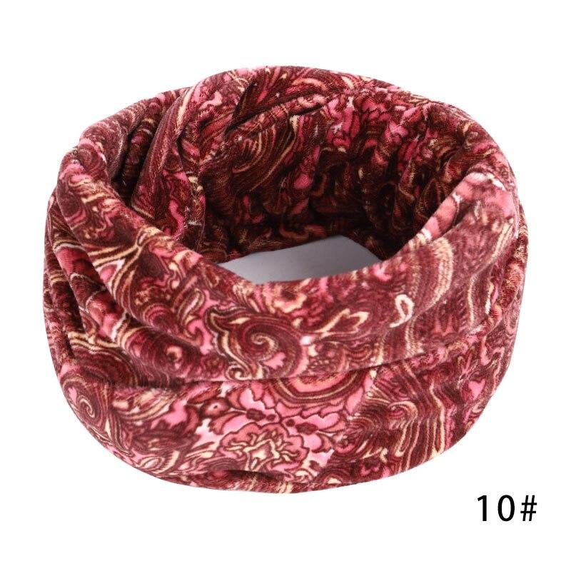 Новинка, осенне-зимний женский шарф с принтом для женщин, модный бархатный тканевый шарф, мягкий удобный женский винтажный шарф - Цвет: 10