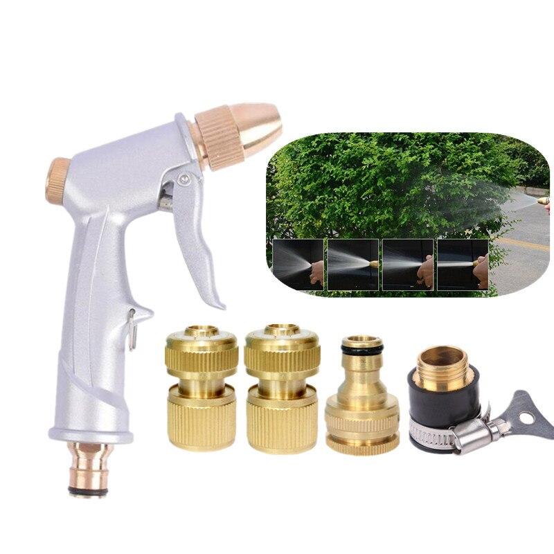 Schnelle Verschiffen Garten Wasser Pistole Mit Schlauch Anschluss Aluminium Legierung Spray Düse Wasser Spray Gun Waschen Bewässerung Blume Reinigung