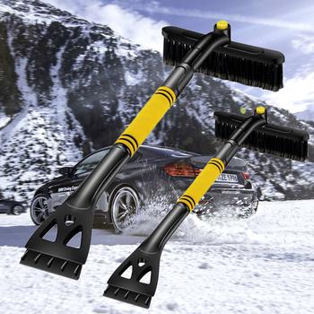 80*24cm szczotka do śniegu chowany samochód skrobaczka do śniegu i lodu szczotka do śniegu łopata szczotka do usuwania zima narzędzia samochodowe narzędzie do masażu tanie i dobre opinie RETFGTU CN (pochodzenie) 64cm ABS plastic 410g