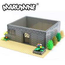 Marumine MOC City Bricks 100PCS 1x4 Dots Houses Wall Building Blocks Compatible