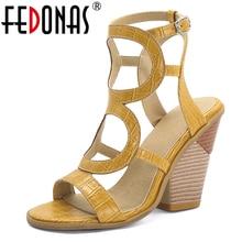 FEDONAS Summer Euro Style Fashion Sexy Women Gladiator Sandals