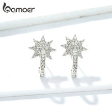 bamoer Wedding Statement Earrings for Women Genuine 925 Sterling Silver Crystal Fine Jewelry Brincos 2019 NEW