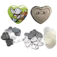 100pcs heart badge button maker 57*53MM button badge blank raw material