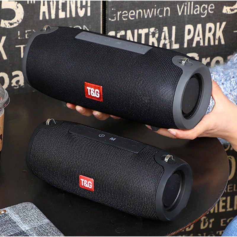 Duża moc przenośny głośnik bezprzewodowy Bluetooth Stereo głośnik muzyka kolumna subwoofera głośniki do komputera z radiem FM