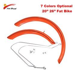 """JS 26 """"20"""" x4.0 tłuszczu rower błotniki błotnik zestaw z obsługuje ze stopu Aluminium ze stopu Aluminium błotniki 26 """"x4.0 do grubej opony rower błotniki rowerowe w Błotniki od Sport i rozrywka na"""