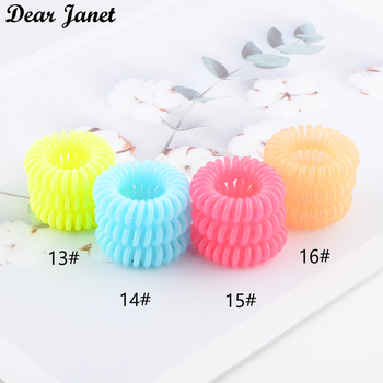 1box 3.5cm Fashion Cute Candy Color telephone line hair gum styling tools headwear drop shipping 1