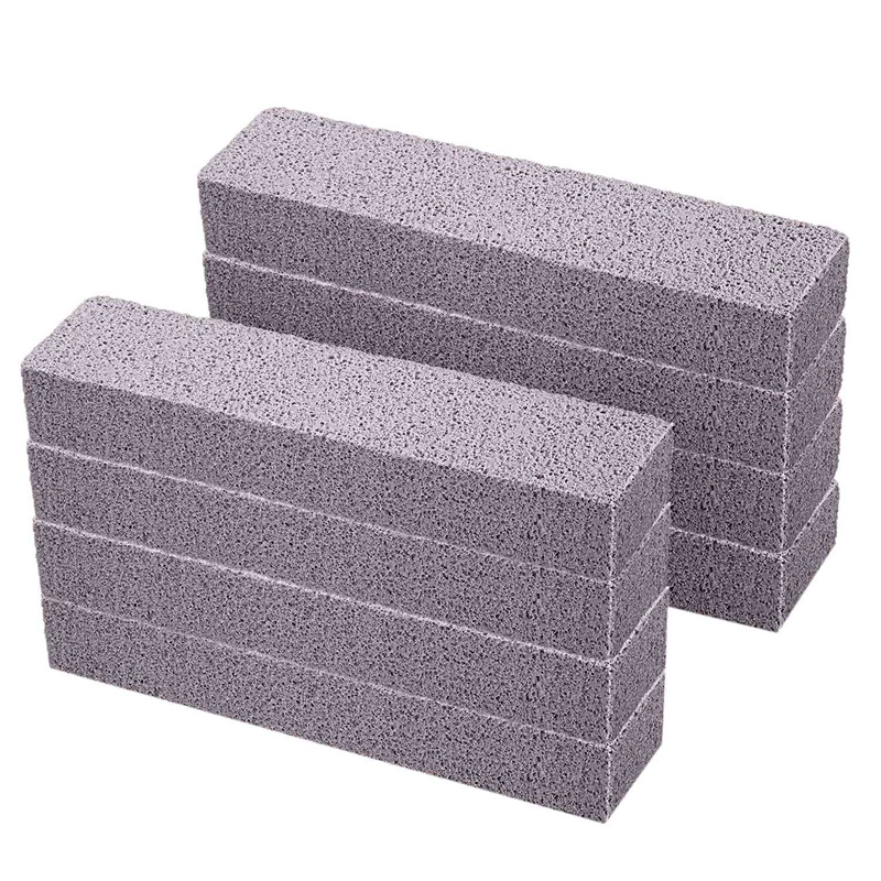 8 Pieces Pumice Stones For Cleaning Pumice Scouring Pad Grey Pumice Stick Cleaner For Removing Toilet Bowl Ring Bath Household K