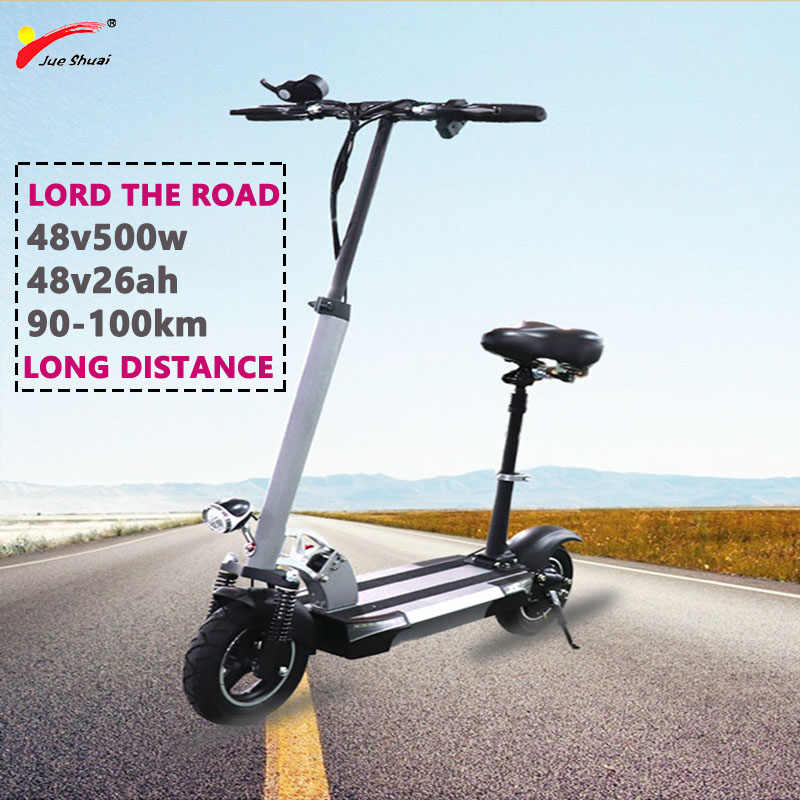 Long Distance 100km 500W 48V26AH Electric Scooter 10inch Lithium Battery Escooter Skateboard Patinete Electrico Adulto E Scooter