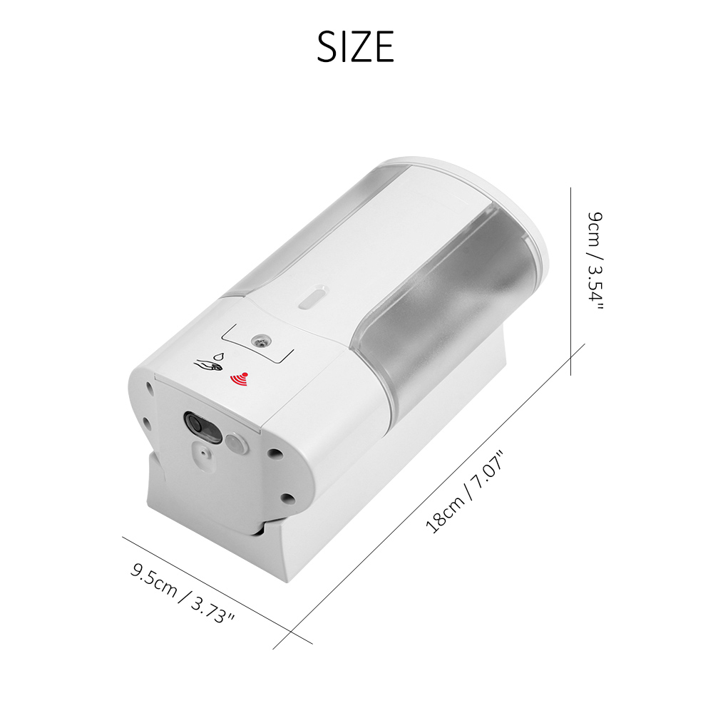He1df37bf80f3453d9dce73d87c14d9b83 400ml Automatic Soap Dispenser Touchless Sensor Hand Sanitizer Shampoo Detergent Dispenser Wall Mounted For Bathroom Kitchen