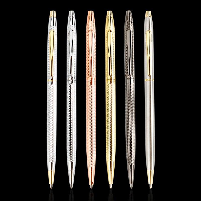 Silver Twist Wave Pattern Of Wire Drawing Process METAL Ballpoint Pen Rollerball Pen Metal Pen Office & School Pen