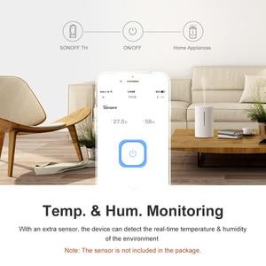 Image 3 - Itead Sonoff TH16 Wifi חכם אלחוטי מתג תמיכה טמפרטורה ולחות ניטור באמצעות AM2301 עובד עם Alexa Google בית