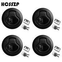 4 個 2 インチ黒プラスチックロックリフトハンドルラッチロックキーロックフラッシュプルラッチデッキハッチ送料無料