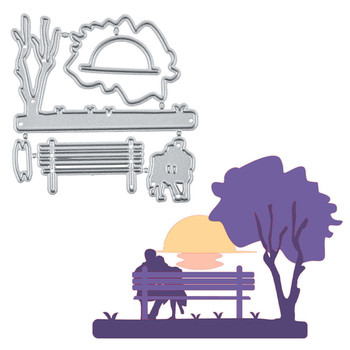 Naifumodo Lovers Seat on Park Bench Metal Cutting Dies 2019 for Craft Scrapbooking Album Embossing Stencil Die Cut Paper Decor