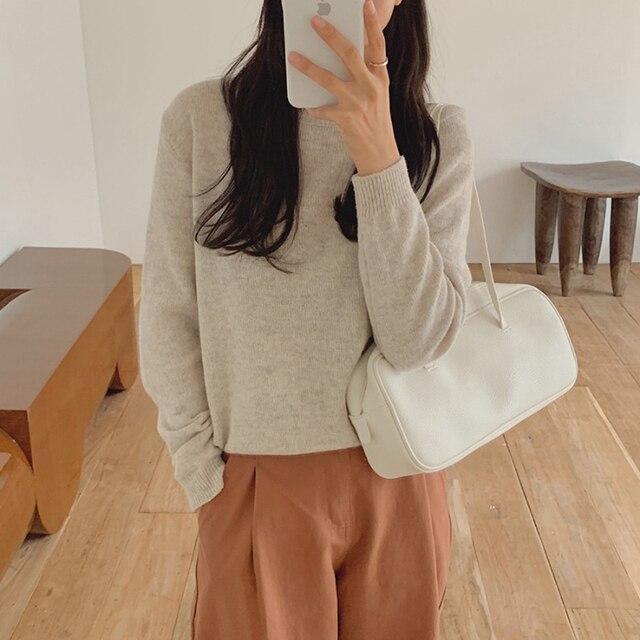 Фото новинка повседневный свитер женский пуловер повседневный вязаный