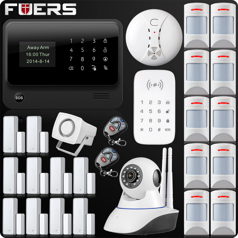 Image 4 - G90B Plus Wireless WiFi GSM GPRS SMS Home Security Alarm System LCD ISO Android App Control Flash siren-in Alarm System Kits from Security & Protection