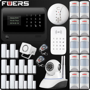 Image 4 - G90B Plus Wireless WiFi GSM GPRS SMS Home Security Alarm System LCD ISO Android App Control Flash siren