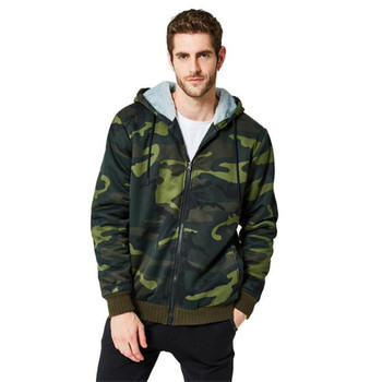 Winter Camouflage Cardigan Mens Hoodies Long Sleeve O Neck Mens Hooded Sweatshirts Casual Male Designer Clothing