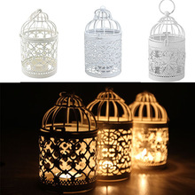Candle-Holder Lantern Candlesticks Bird-Cage Bridal-Decor Vintage Creative Hanging 1pc