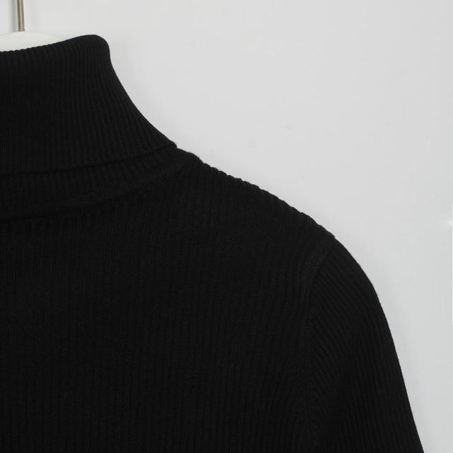 Wixra Женские повседневные сексуальное обтягивающее водолазка дресс-код элегантная база базовая тренды повседневная 2019 Зима осень весна топ платье в рубчик трикотаж 5