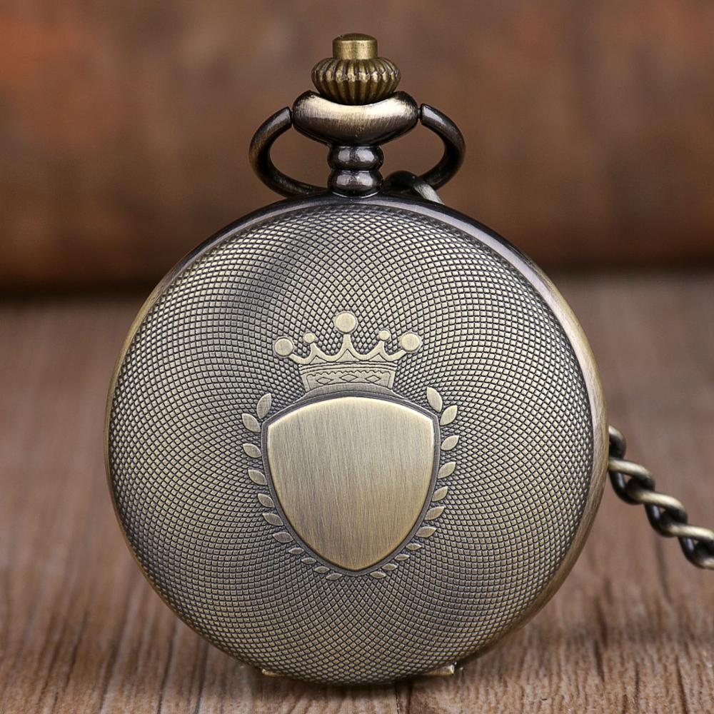 Men Women Gift Vintage Classic Retro Bronze Design Pocket Watch Quartz Pendant Necklace Pocket Fob Watches Steampunk Style