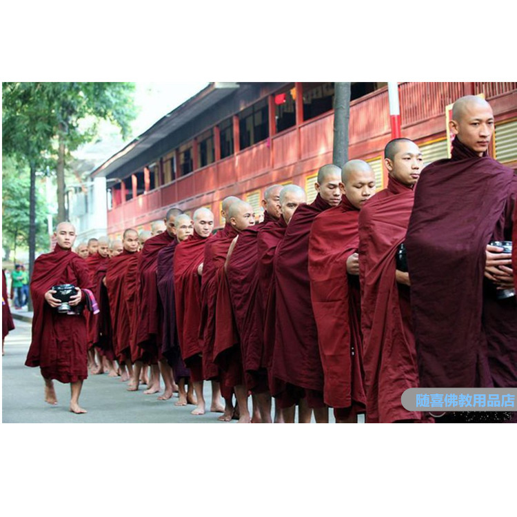 Monk's Cassock Theravada Buddhism Monk Master His Holiness Jujube Red Tops Pants Belts Buddhist Monk Robes Meditation Costume