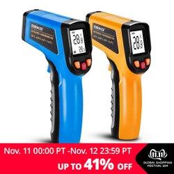 Deko wd01 não-contato laser display lcd ir infravermelho digital c/f seleção de superfície temperatura termômetro pirometer imager