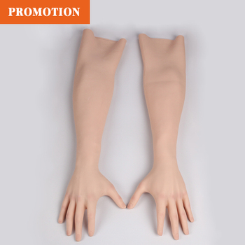 Silicone Gloves High Realistic Glove Female Artificial Skin  Lady Fake Hands Crossdresser for Cosplay Halloween Male to Female