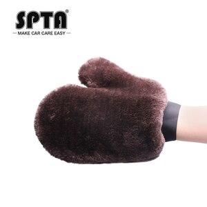 Image 3 - SPTA – gants de lavage de voiture, outil de nettoyage automobile, brosse de nettoyage multifonction, Super propre, en laine