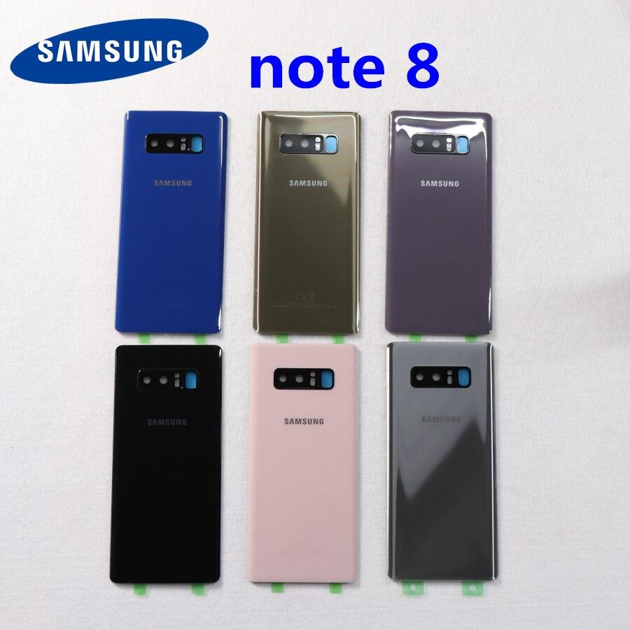Задняя крышка аккумулятора SAMSUNG Galaxy Note 8 N950 N950F N9500 SM-N950F, замена корпуса + стекло для камеры note8, заднее стекло