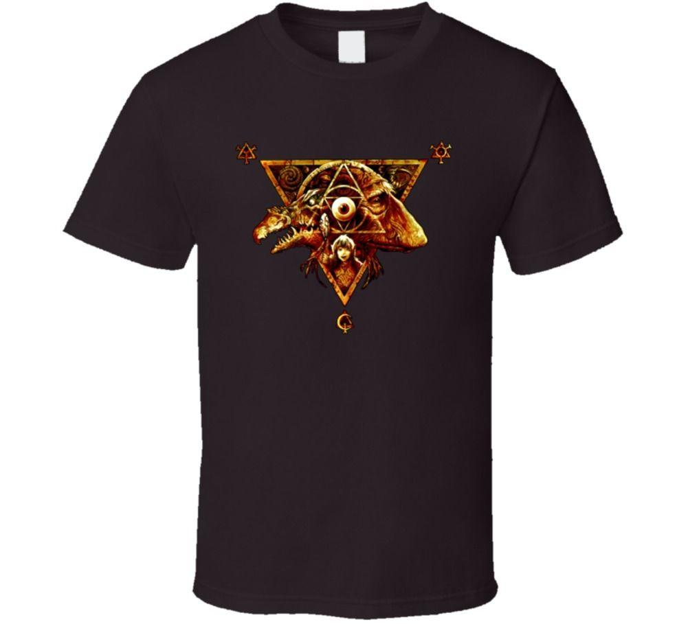 Cristal oscuro clásico fantasía película T Shirt-camisa marrón hombres camiseta Camisa de algodón de manga corta Fitness camisetas