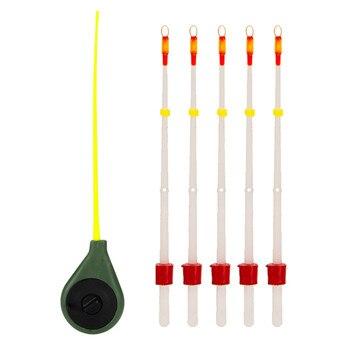 Mini Ice Fishing Rod+Stick Winter Sport Portable Fishing Accessories New