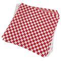 100 шт клетчатая deli candy подкладка в корзину пищевая оберточная бумага  жироотталкивающая  сэндвич упаковка для бургеров  красный и белый