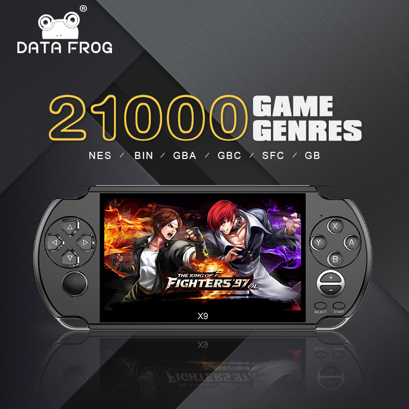 DADOS SAPO 5.0 Polegada 8GB de Memória Handheld Video Game Console Jogador Do Jogo Retro Suporte TV Out Put Com MP3 câmera para NES/GBAGame
