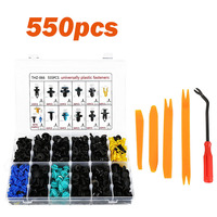 555pcs/set Car Body Interior Fender Bumper Retainers Fasteners Clips Plastic Rivets Trim Assortment Kit with Removal Tool