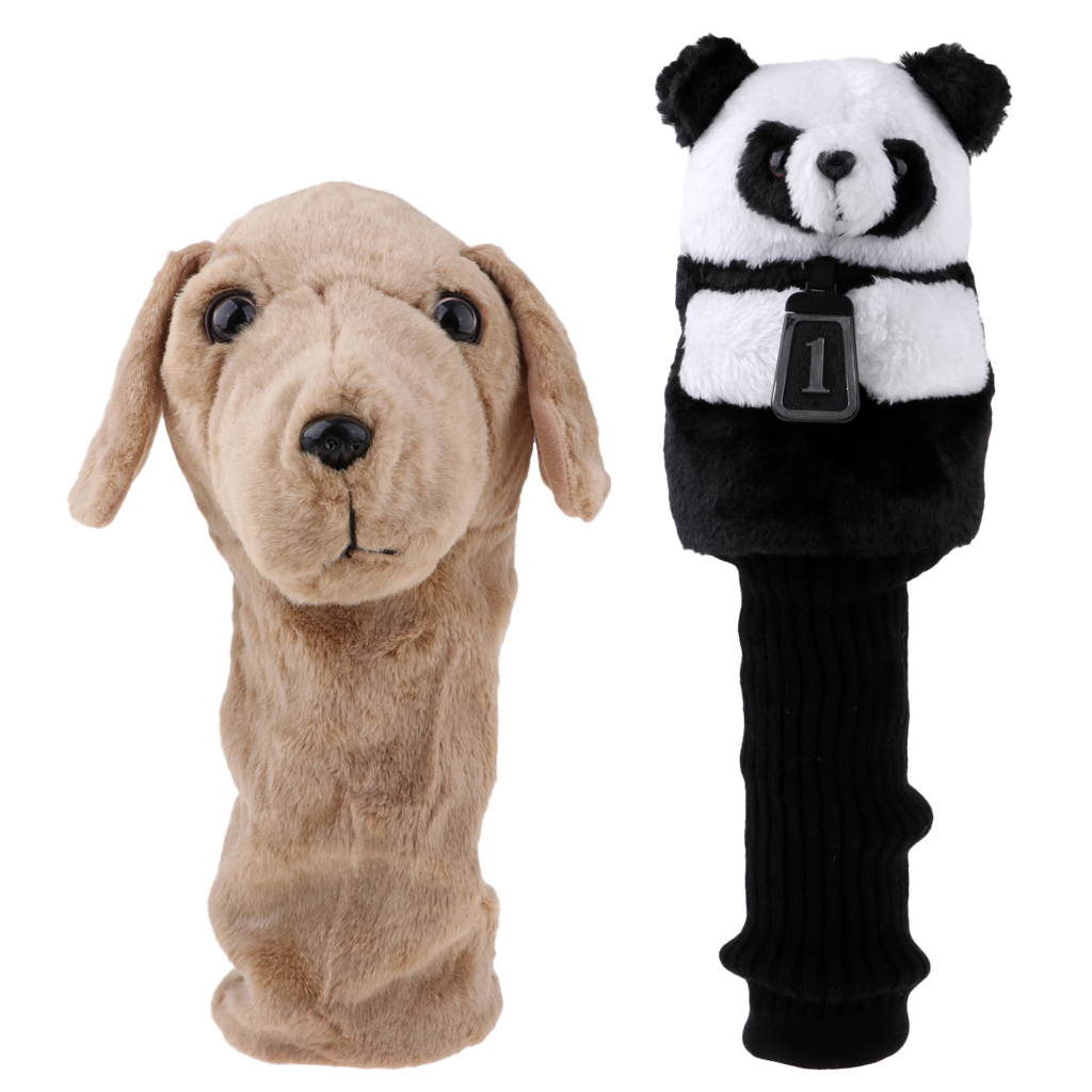 Animal Golf Club Head Cover Outdoor Sports Golf Accessories Golf Headcover Protector For 460CC No.1 Driver Wood Dog Panda Shaped