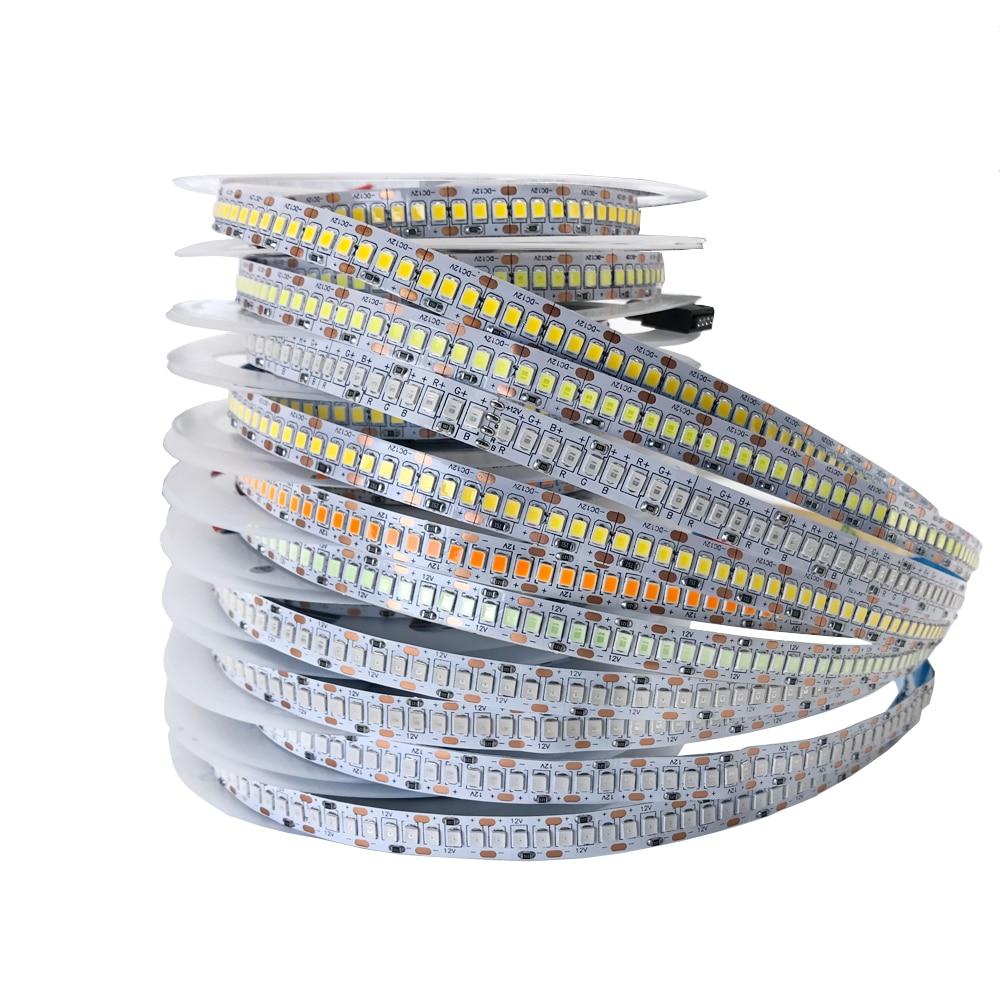 5M LED Strip 2835 SMD DC 12V 240LEDs/M 300/600/1200 Leds Waterproof IP65 Flexible Ribbon String LED Tape Lights Cold Warm White