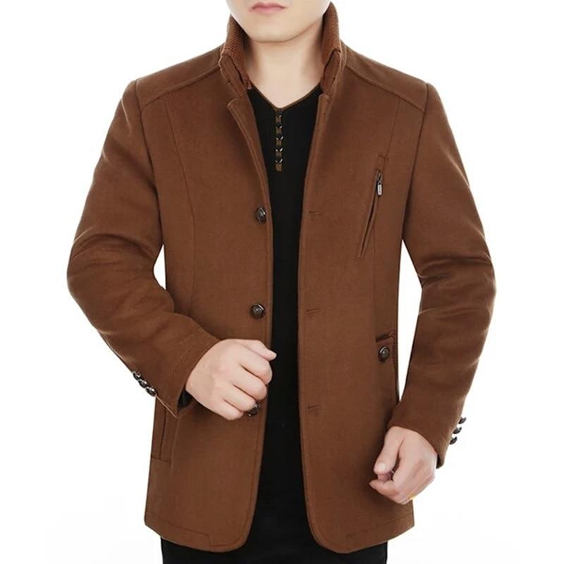 BO 2020 men cloth coat collar fashion new woolen cloth coat