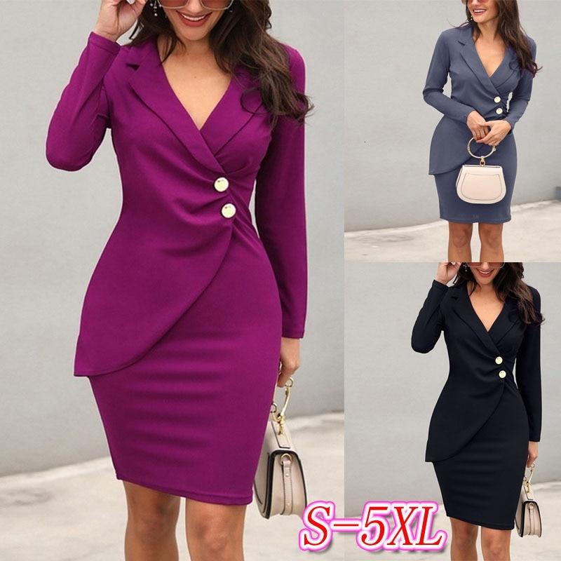 BGW Autumn Winter V Neck Full Sleeve Woman Cocktail Dress Plus Size Mother Dress Coat Dinner Dress Vestido Mae Da Noiva