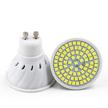 led bulb GU10 MR16 E27 E14 input voltage 110v 220v 240v white 6500k warm white 3000k SMD 2835 spotlight lamp dropshipping zdm qe2785148w16l e27 16w 1500lm 6500k 34 smd 5730 led white light bulb silver white 200 240v