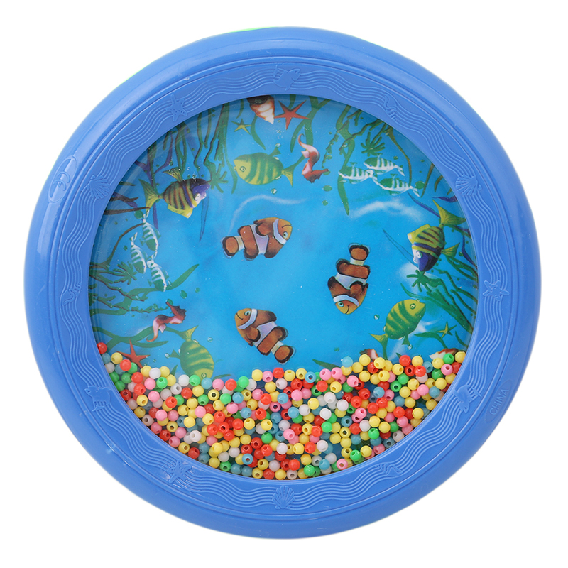 Kids Wooden Musical Toys Ocean Wave Bead Drum Gentle Sea Sound Musical Educational Tool Toys For Baby Children