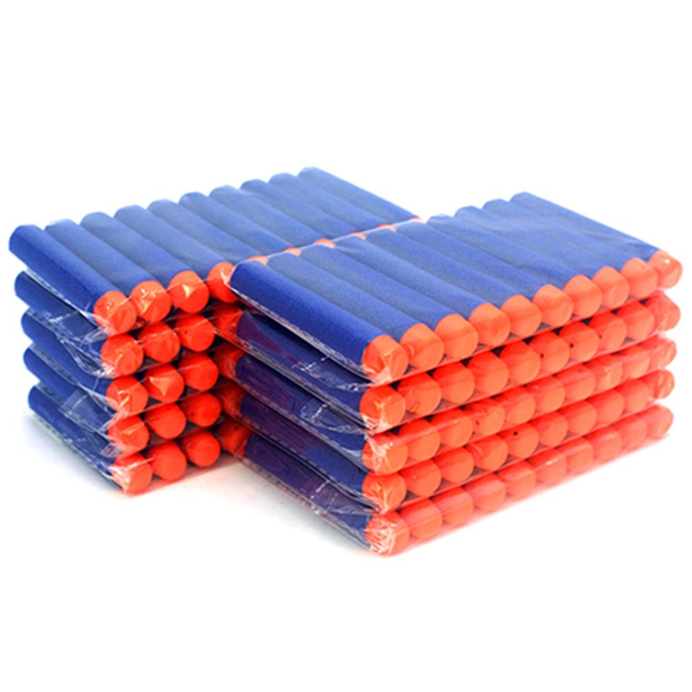 60pcs For Nerf Bullets EVA Soft Hollow Hole Head 7.2cm Refill Bullet Darts For Nerf Toy Gun Accessories For Nerf Blasters