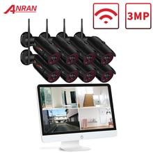 ANRAN 3MP 4CH אבטחת בית מצלמה מערכת עמיד למים חיצוני ראיית לילה Wifi Ip מצלמה עם 15 אינץ צג 1tb HDD NVR ערכות