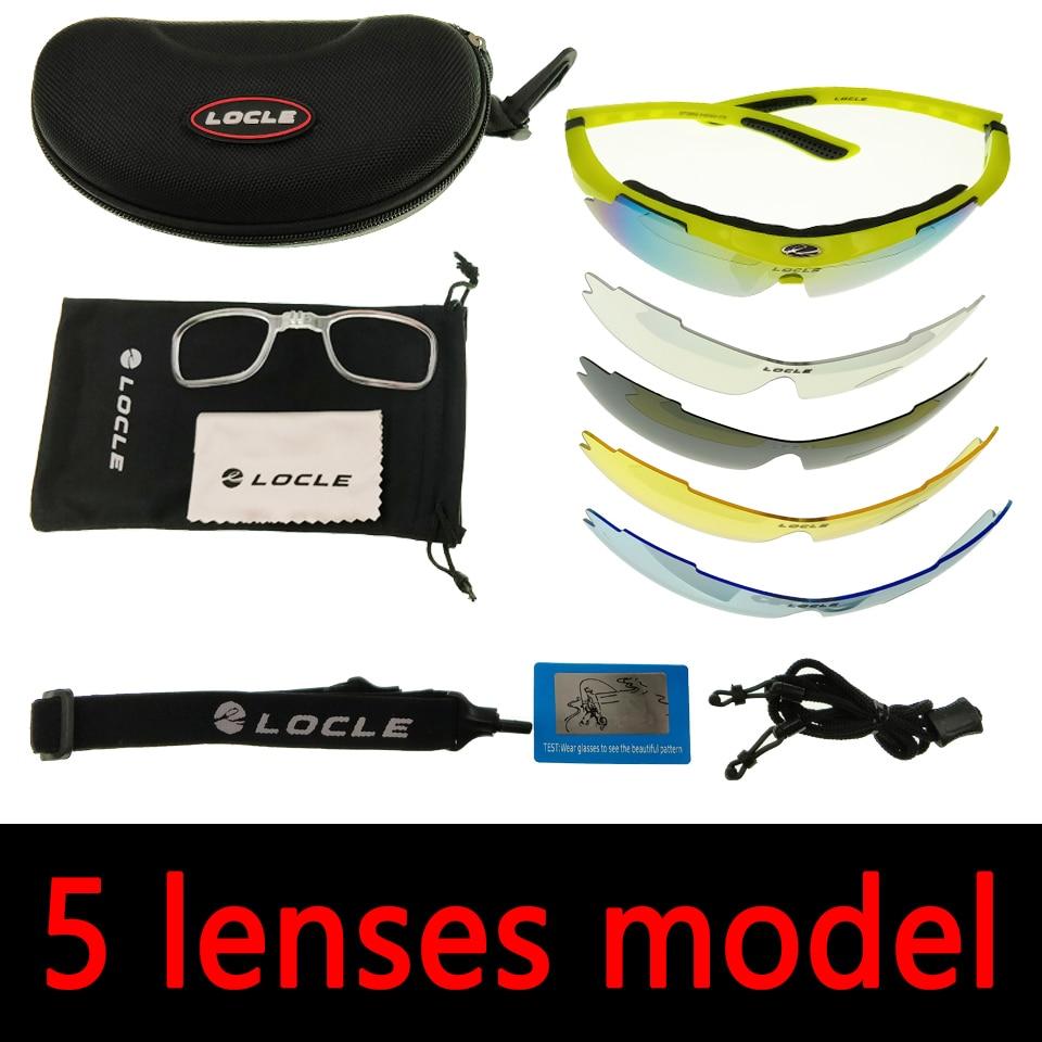 LOCLE occhiali da ciclismo UV400 occhiali da sole da ciclismo polarizzati uomo Road MTB Bike occhiali da bicicletta pesca equitazione occhiali occhiali da ciclismo 2