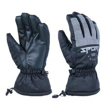 2021 Waterproof Winter Warm Snow Ski Gloves Black Men Women 3M Sports Young Boys Girls Grey Red Snowboard Snowmobile Mittens