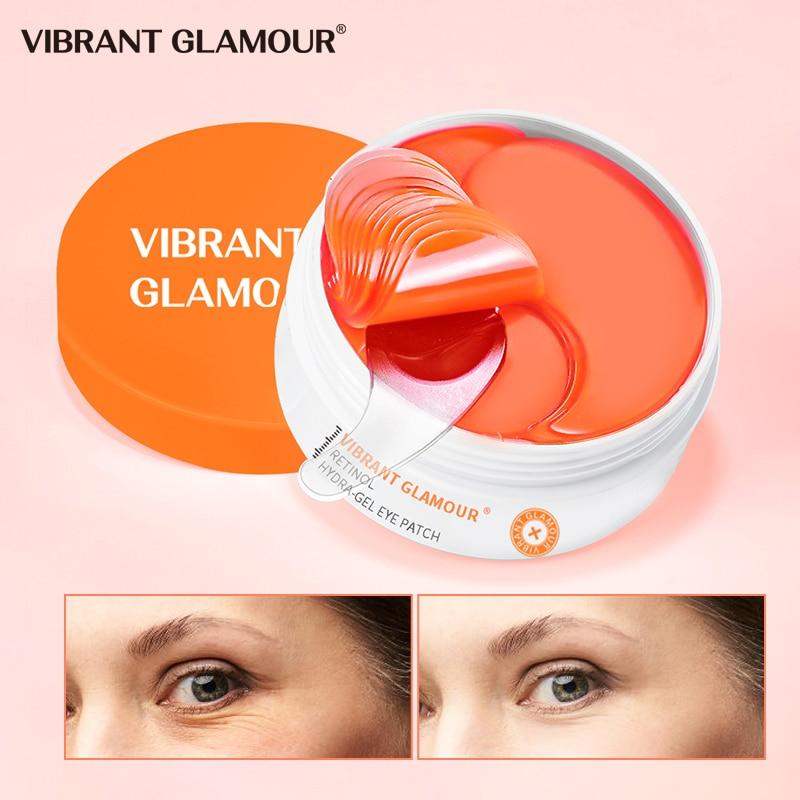 Retinol hydra-gel olho remendo anti envelhecimento máscara de olho cuidados 60 pçs hidratante círculos escuros sacos de olho remover anti-rugas máscara de olho cuidados