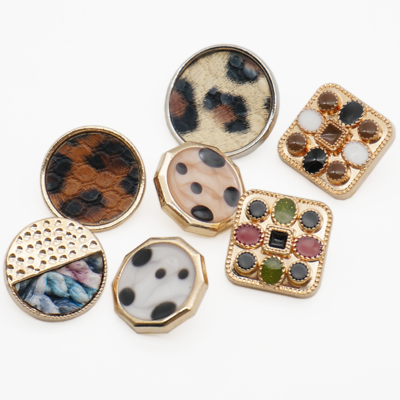 17 мм/25 мм квадратные плоские пуговицы в форме Луны, леопардовая ткань, пуговицы ручной работы, аксессуары для украшения скрапбукинга