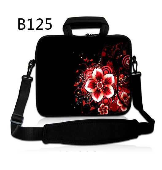 Bloem Rode Aanpasbare Neopreen Laptop Tas 10 12 13 14 15 17Inch Laptop Schoudertas Notebook Sleeve Case Cover
