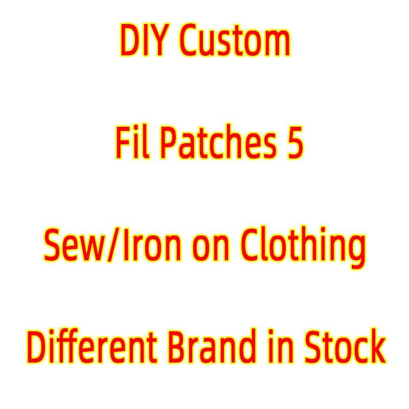 Полоски на одежде фирменные нашивки с помощью утюга, DIY фирменные нашивки для курток, вышивка, альтернативная одежда, наклейки, значок, аппли...